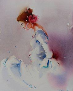 """Y olé"" Acuarela s/papel #watercolors #aquarelle #art #artwork #painting #winsorandnewton #blancaalvarezwatercolors #flamenco #baile #dance"