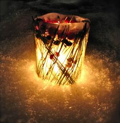 ice lantern!.. fun and then wouldn't have to worry about anything catching on fire...always a plus