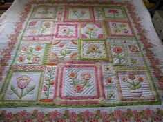 Full view of garden quilt