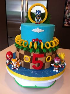 Josh wants a Sonic the hedgehog cake @Suzanne Grimes