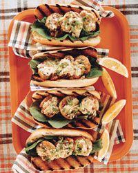Grilled Shrimp Rolls with Sorrel // More Tasty Grilled Shrimp: http://fandw.me/kkJ #foodandwine