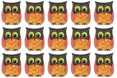 scrummy owl fabric by scrummy on Spoonflower - custom fabric