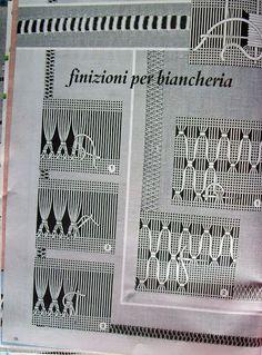 Lene Richelieu e Bainha Aberta: Pontos básicos de Bainha Aberta Knot Blanket, Blanket Stitch, Drawn Thread, Thread Work, Hardanger Embroidery, Cross Stitch Embroidery, Hand Embroidery Designs, Embroidery Patterns, Lace Drawing