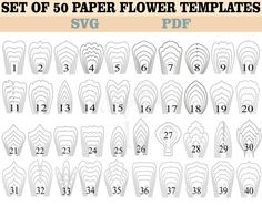 paper flower tutorial This item is unavailable 60 PDF and SVG file Paper Flower Templates, Large Paper Flower, Wedding Decoration Paper Flower Patterns, Easy Paper Flowers, Paper Flowers Wedding, Paper Flower Wall, Paper Flower Tutorial, Paper Flower Backdrop, Diy Flowers, Flower Petal Template, Flower Svg