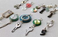 Repurposed Button Charms (Key Rings?)
