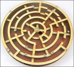 Labyrinth - Wooden Brain Teaser Puzzle / Game-This puzzle / game is made of natural wood and transparent plastic, which gives it very unique and fancy Maze Puzzles, Wooden Puzzles, Escape Room Puzzles, Maze Game, 3d Maze, Brain Teaser Puzzles, Game Google, Woodworking Toys, Brain Teasers