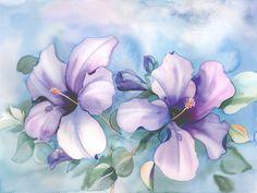Flores Violetas Acuarelas De