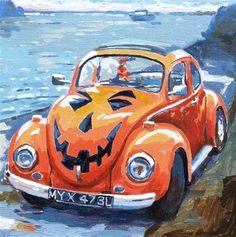 """Halloween bug"" - Original Fine Art for Sale - © Haidee-Jo Summers"