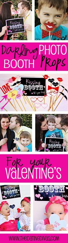Darling Valentine Photo Booth Prop Freebie! www.TheDatingDivas.com #vday #free  #photoboothprop