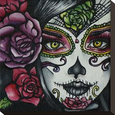 Day of the Dead Girl Stretched Canvas Print at AllPosters.com