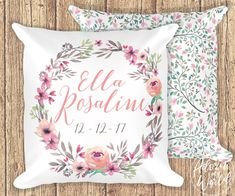 Personalized Baby Pillow, Custom Baby Pillow, Birth Announcement Pillow, Personalized Baby Gift, Pillow For Baby, Name Pillow, Name Cushion