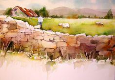 Jan Pastor~ watercolor landscape