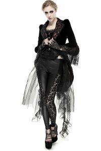 Viktorianischer Mantel mit Spitze und Schleppe