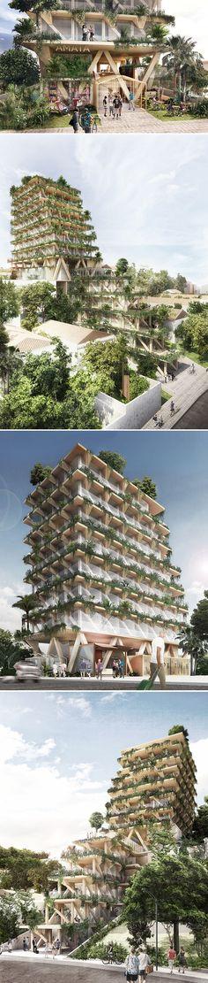 São Paulo ganhará o primeiro edifício de madeira do Brasil que absorve CO2  stylo urbano #madeira #arquitetura #sustentabilidade