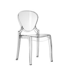 Italian dining chair available in white, black, smoke, amber, transpar at My Italian Living Ltd