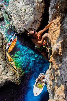 Hvar cliffbase climbing