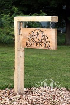 Image result for ideas for hanging a driveway address sign