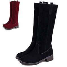 Cheap Boots on Sale at Bargain Price, Buy Quality boots plus size women, boot rack, boots satin from China boots plus size women Suppliers at Aliexpress.com:1,Outsole Material:Rubber 2,Toe Shape:Round Toe 3,Shaft:13.5 inch 4,Pattern Type:Solid 5,Item Type:Boots