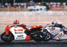 Wayne Rainey (Marlboro Roberts-Yamaha YZR500)  Mick Doohan (Rothmans HRC-Honda NSR500), 1991 FIM 500cc World Championship