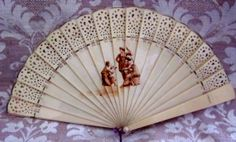 Unexpected Ornament  Small  Antique  Fan  by angelinabella on Etsy, $28.00