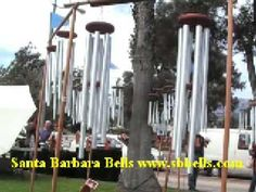 This is the Santa Barbara Bells windchime display with over 35 chimes sounding all at once. A windchime symphony to the ears.