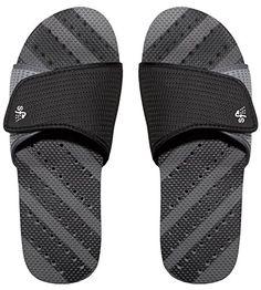 nice Showaflops Men's Antimicrobial Shower & Water Sandals - Adjustable Slide