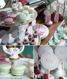 Tips on how style a dessert table