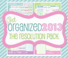 Get Organized 2013 Planner via Etsy.
