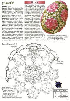 Handmade-kursy ,wzory ,tutoriale: Szydełkowe jajka -schematy