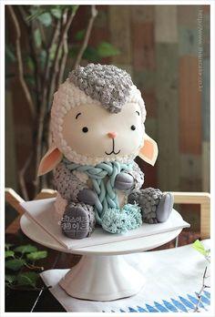 ★ Class Notification ★ Newly born baby sheep cake ~ ^^ / Osong cake / Cheongju cake / Sejong cake / Disie cake: Naver blog