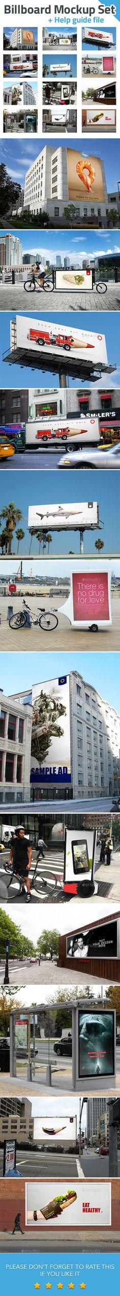 Billboard Mockup Set | #billboardmockup | Download: http://graphicriver.net/item/billboard-mockup-set/9323620?ref=ksioks