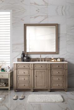 Photographic Gallery  inch Single Sink Bathroom Vanity Whitewashed Walnut Finish