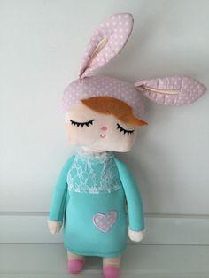 rabbit doll puppe in mint bei heldenkind kaufen