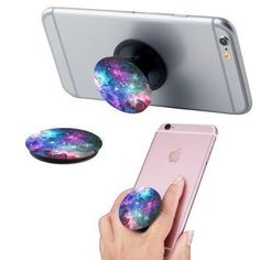 Galaxy Design Expandable Phone Grip and Stand, Multi-Color