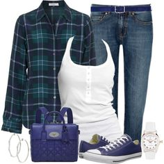 Plaid and Sneakers