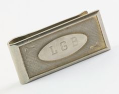 Vintage Money Clip  Engraved LGB Initial by CuffsandClips on Etsy, $25.40