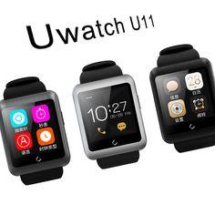Uwatch U11 Smartwatch Bluetooth4.0 64 Mt + 128 Mt uhr unterstützung SIM karte Schrittzähler Stoppuhr für Android und IOS handgelenk uhr männer frauen //Price: $US $43.81 & FREE Shipping //     #smartuhren