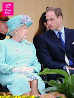 Queen Elizabeth and Prince William; Grandmother & Grandson.
