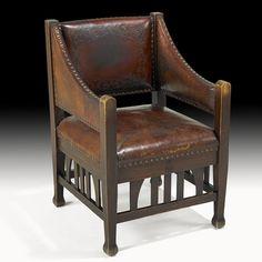 Roycroft Leather Armchair