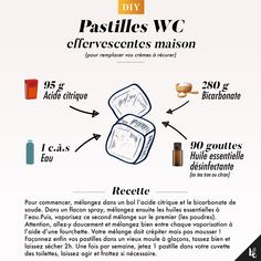 DIY : Pastilles effervescentes WC - Jenkins K. House Cleaning Tips, Cleaning Hacks, Diy Zelt, Practical Wedding, Natural Cleaning Products, Clean House, Beauty Hacks, How To Remove, Blog