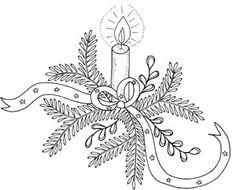 omalovanka Christmas Candles, Christmas Diy, Embroidery Patterns, Flowers, Crafts, Smoothie Recipes, Coloring, Holidays, Embroidery