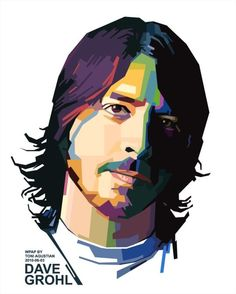Dave Grohl 2 in WPAP by toniagustian Foo Fighters Dave Grohl, Foo Fighters Nirvana, Art Pop, Sketch Manga, Pop Art Portraits, Portrait Paintings, Muse Art, Hot Hunks, Rockn Roll