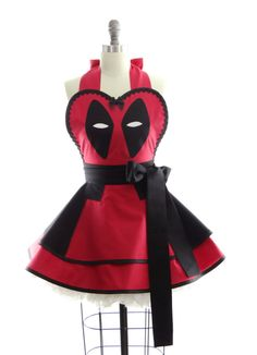 Were not saying that this retro deadpool costume apron will give you accelerated healing powers or make you quick witted + sarcastic (you probably already have these abilities since you are checking out this awesome apron), but it will make you the best dressed hostess ever! Either way,