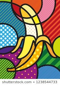 Modern pop art banana illustration / print for you design. Healthy, ecological a… Modern pop art banana illustration / print for you design. Healthy, ecological and fresh food design. Vector, abstract and decorative fruit object. Pop Art Drawing, Art Drawings, Food Design, Pop Art Design, Graphic Design, Design Alphabet, Illustration Pop Art, Pop Art Food, Abstract Art For Kids