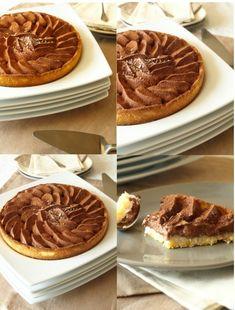 Un délice de tarte pas compliqué pour un sous; simplifié par l'utilisation d'une pâte sablée du commerce (acheté à l'insu de mon plein gré, si si je vous promets! j'achète uniquement la pâte feuiletée par feinéantise et j'ai confondu le paquet de sablé...