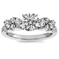 Diamond Garland Engagement Ring