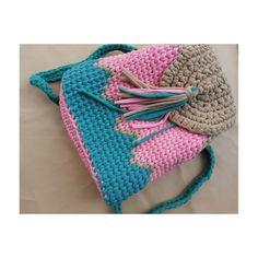 Crochet ransel bag triple