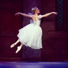 A shot from La Sylphide showing off the flawless, but challenging execution of the Bournonville style of choreography by dancer Ashley Lynn Sherman #ballet is true love. #BalletAustin #Austin