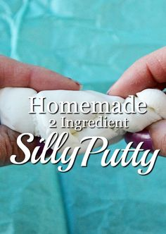 A Homemade Silly Putty Recipe. A great craft idea that only requires two ingredients you have in your kitchen.