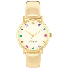 Kate Spade Gold Watch (3 525 ZAR) found on Polyvore